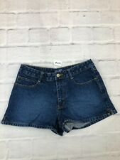 Angels Women's Size 9 Waist 29 Mid Rise Hot Pants Booty Denim Shorts Washed Blue