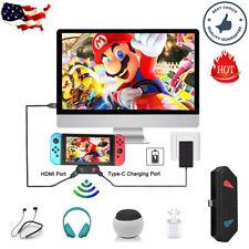 TV HDMI Dock Wireless Bluetooth Audio Transmitter Adapter For Nintendo Switch PC