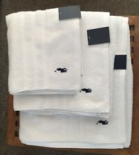Polo Ralph Lauren Towel Bale Set of 3 Bath Sheet, Bath Towel, Hand Towel White