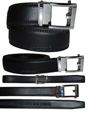 """Lot of 2. Men's belt. Leather Dress Belt Automatic Lock New buckle up to 43"""""""