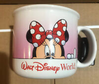 Disney Parks MINNIE MOUSE Coffee Mug Cup Ceramic Pink Walt Disney World