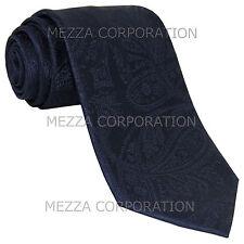 New Vesuvio Napoli polyester Men's necktie paisley wedding formal prom Navy