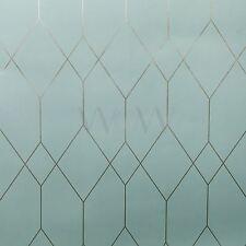 Esprit Géométrique Diamant Papier-Peint Sarcelle / Cuivre - As Creation 32792-2