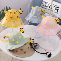 2020 new  Kids Child Anti Droplets Hat Protect Face Shield Cover Fisherman Cap