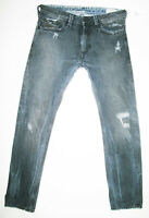 *HOT Men's DIESEL @ THANAZ Art 8V9 Slim SKINNY DISTRESS BLACK COAL Jeans 30 x 30