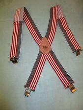 CLC American Flag Suspenders Red White Blue Patriotic Custom Leather Craft NEW