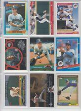 Omar Vizquel 9 baseball card lot-3x AllStar-11x Gold Gloves. Mariners-Indians