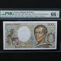 1987 France 200 Francs, Pick # 155b, PMG 66 EPQ Gem Unc