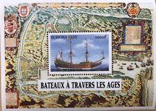 Burkina Faso- 1999 Boats Souvenir Sheet of 1 MNH