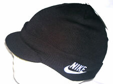 Nike Child Unisex Peak Beanie Hat 340697 010 Black Size M/L