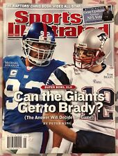 Lot of (2) Sports Illustrated New York Giants Strahan Toomer Newstand Issues