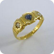 Vintage Sapphire & Diamond 18 carat Gold Ring, hallmarked 1924