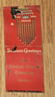 1930s Golden CO Advertising Matchbook Adolph Coors Co. Season's Greetings RARE!!
