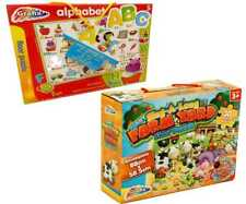 Set 2 Giant Floor Puzzles - Alphabet Jigsaw & Musical Farm Yard Kids Puzzle 1116