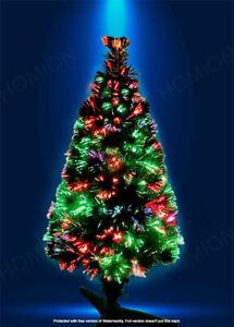 3FT Fibre Optic Christmas LED Multicolour Changing  Lights Xmas Pre Lit Tree