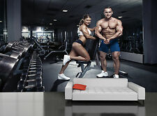 Sporty Sexy Couple in Gym Wall Mural Photo Wallpaper GIANT WALL DECOR FREE GLUE