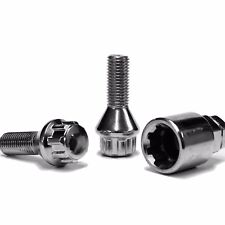 M12 x 1.25 Alloy Wheel Locking Bolts with Carrying Case Peugeot Citroen Fiat