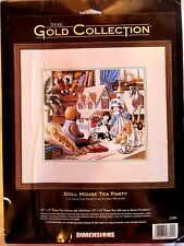 Dimensions Gold Collection DOLL HOUSE TEA PARTY - New & Sealed