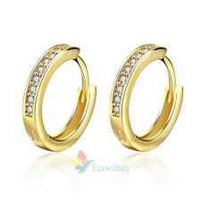 18k Gold Plated Jewellery Small Baby Girls Hoops with Zircons Earrings Fashion