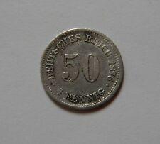 KAISERREICH: 50 Pfennig 1876 B, J. 7, fast vorzüglich !!! SCHÖNE PATINA !!!