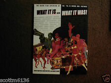 WHAT IT IS...WHAT IT WAS: Black Film Explosion of the '70s in Words  & Pictures