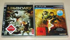 2 PLAYSTATION 3 SPIELE SET - LEGENDARY & RESIDENT EVIL 5 GOLD - FSK 18 - PS3