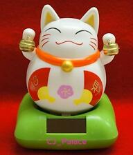 Nohohon Flip Flap Solar Powered Japanese Maneki Neko Lucky Cat-Fatty with Bells