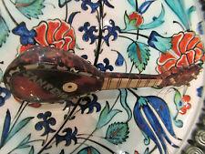 ancienne petite mandoline en bois souvenir de san remo italie
