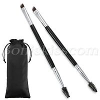 2pcs Pro Double Heads Angled Eyebrow Comb Brush Eyelash Brush Makeup Beauty Tool