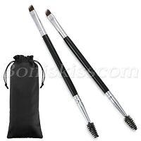 2pcs Pro Double Heads Angled Eyebrow Comb Brush Eyelash Brush Makeup Beauty Tool