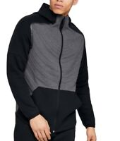 Under Armour Mens Jacket Black Gray Size Small S Full-Zipped Contrast $90 #263