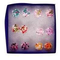6 Pairs/Set Resin Colorful Daisy Flower Ear Stud Earrings Women Fashion Jewelry