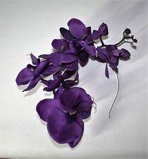 Large Purple Orchid Flower Black Headband - Fascinator - Wedding, Races, Party.