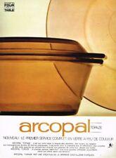 C- Publicité Advertising 1967 Plat Topaze Verre à feu Arcopal