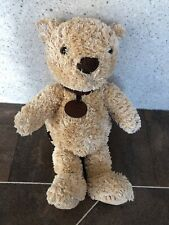 MARKS AND SPENCER M&S LEATHER TAG SPENCER BEAR BABY SOFT TOY COMFORTER 2292 274