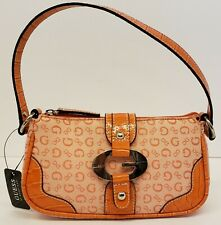 NEW WITH TAGS, GUESS BY MARCIANO,FLICKER, MINI PURSE~ORANGE~GUESS LOGO CLOSURE