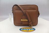 FOSSIL Genuine Brown Leather Tatum Small Cross Body Bag BNWT RRP £129