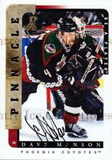 1996-97 Be A Player Auto #57 Dave Manson