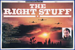 THE RIGHT STUFF__Orig. 1984 Oscar AD 3pg promo_poster__Mercury 7 astronauts_NASA