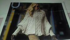 Women's Cable Poncho Knitting Pattern Sizes S/M L/XXL