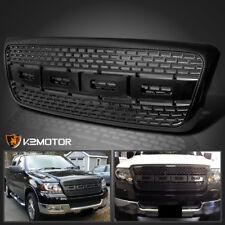 2004-2008 Ford F150 Raptor Style Bumper Hood Grille ABS Black Carbon Fiber Look