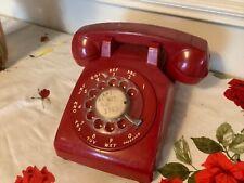 Vintage ITT Telecommunications Red Rotary Desk Phone telephone