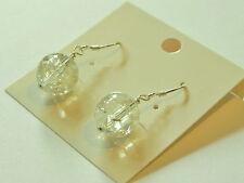 Crackled citrine gemstone sterling silver earrings, November birthstone