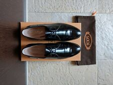 scarpe stringate donna Tod's nero shoes womens laced black made in italy tods
