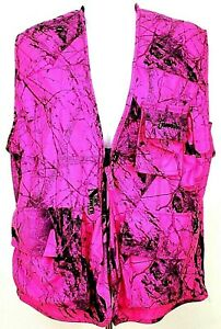 Gamehide Blaze Pink Naked North Camo Big Game Hunting Vest Womens Size S