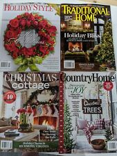 Holiday Style, Traditional Home, Christmas Cottage & Country Home - 4 Magazines