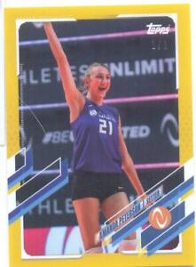 Amanda Peterson 2021 Topps Now Athletes Unlimited Volleyball gold 1/1