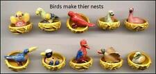AMAZING MINIATURE PORCELAIN,BIRD MAKES HIS NEST,FLAMINGO,DUCK,TOUCAN,PARROT