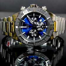 Mens Invicta Aviator Blue 50mm Stainless Steel Chronograph Watch New W/ Warranty