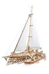 UGears TRIMARAN Merihobus mechanical wooden model KIT 3D puzzle